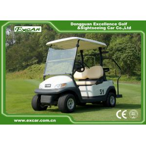 China EXCAR Trojan battery 2 Seater Used Electric Golf Carts 48V 275A golf buggy on sale