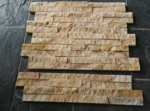 China Sandstone Crude stacked stone wall cladding for exterior on sale