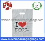 Biodegradable Die Cut Handle Plastic Bags With Bottom Gussets For T-Shirt