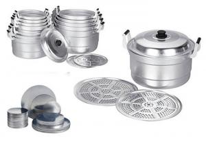 China Kitchen Aluminium Discs Circles Alloy 1050 High Strength With Silvery Color on sale