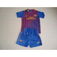 China Soccer jersey wholesale Barcelona Kids Home Jersey - Red Blue 2011-2012 Season Home Kit free shipping soccer uniforms suit on sale