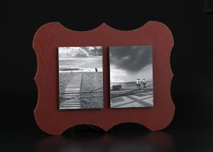 China Distressed Red multi photo picture frame , Home hanging multiple pictures wall on sale