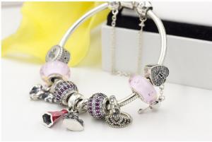 China O estilo ocidental personalizou a joia frisada feito a mão de prata da prata s925 esterlina do bracelete DIY do bracelete on sale