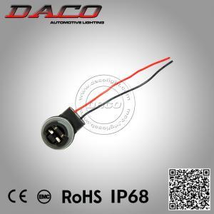China 3156 LED Light Bulb Socket Holder Wiring Harness 3156 Female Connector Headlight Bulb Adapter on sale