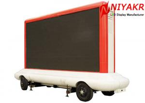 China SMD3535 P8 Outdoor Mobile LED Screen Hire Trailer LED Display Anti Shake 1R1G1B on sale