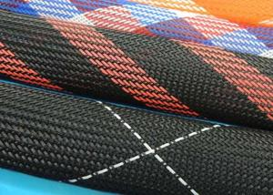 China Polyester Heat Shrinkable Braided Sleeving , Cable Protection Sleeve High Density on sale