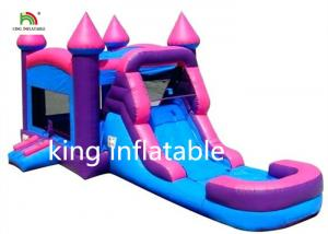 China Pink Girl Gaint Infltable Bounce House Dry Slide Commercial With CE Blower on sale