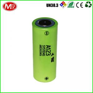 China LiFePO4 26650 Lithium Battery Cells , A123 Cylinder Lithium Ion Battery For Mouse on sale