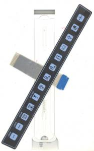 China Flexible  PC / PET Tactile Membrane Switch Flexible Embossed Heat Resisting on sale
