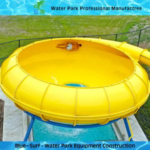 Quality Yellow Space Bowl Fiberglass Water Slides Customized Outdoor Water Slides for sale