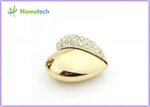 China OEM Jewelry Crystal Heart USB Flash Drive , Heart Shape Pendant Usb 2.0 for Girl on sale
