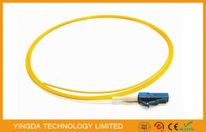 China LC SM LSZH Optical Fiber Pigtail 900um White 1.5M UPC Polish , Single Mode Fiber Pigtails on sale