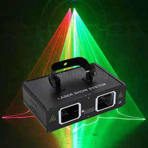 China Double Head Multi Patterns 500mW RGB Full Color DMX Colorful Disco Laser Line Light on sale