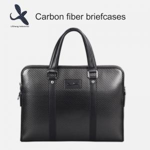China 2019 New LS customized high quality mens fashion carbon fiber leather business travel briefcase on sale