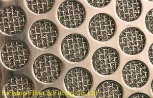 China Staggered And Straight Aligned Holes Low Carbon Perforated Steel Plate on sale