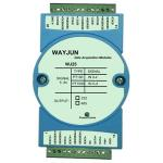 China wayjun WJ25 series 5 channels RTD Temperature Signal to RS485/232 temperature signal acquisition 24bits blue wholesale