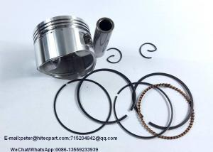 China Silver Aluminum Motorcycle Piston Kits And Rings CD110 Bore Dia.52.4mm Height 37mm on sale