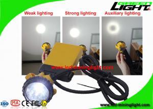 China Hard Hat Rechargeable Mining Headlamp 3 Watt With 4 Level Lighting Mode on sale