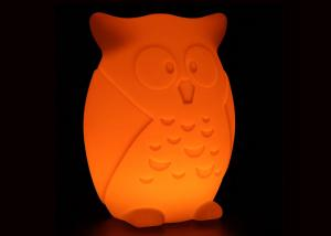 Quality Rechargeable Battery LED Owl Night Light with 16 Colors Remote Control for sale