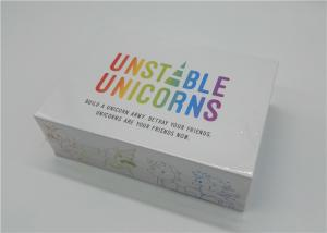 China Unstable Unicorns New Playing Cards , Unique Playing Cards 30 - 45 Minutes Playtime on sale
