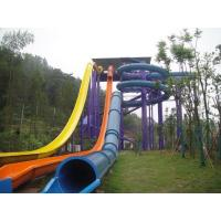 High Speed Swimming Pool Water Slides Funny Water Amusement For Holiday Resort Visitors