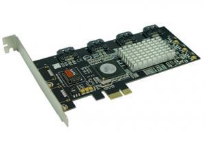 China 4 Port SATA PCIE Card,  3G, RAID,  SATA II, SIL3124 Chipset on sale