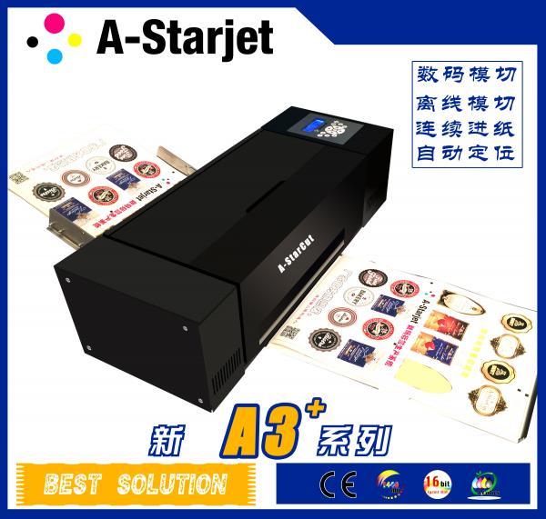 high efficiency sticker printer cutter machine   auto