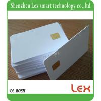 China ISO7816 Blank Printable RFID White Smart Card Fudan 4442 Plastic Contact Card compatible SLE5542 chip Card on sale