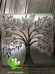 Tree design Aluminum panels for hotel facade customized metal sheet manufacturer