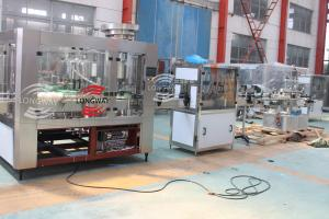 China 100% factory ,Rotary fruit vinegar washing filling capping machine with vacuum system on sale