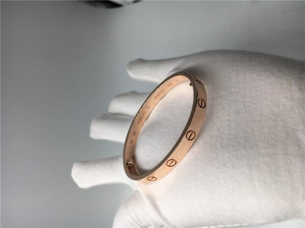 15ccfff053 Pink Gold Luxury Diamond Jewelry Cartier Love Bracelet B6035617 Without  Diamonds Images