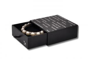 China Bracelet Ring Jewelry Drawer Box Small Black Foam Insert Jewelry Packaging Box on sale