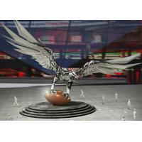 China Large Stainless Steel Sculpture Outdoor Decoration Stainless Steel Eagle Sculpture on sale