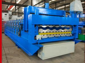 China Glazing Steel Double Layer Roll Forming Machine 380 V 50 HZ 3 Phase Voltage on sale