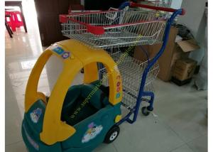 China Child Size Children Shopping Carts Mall Toy Cart Kids Shopping Trolley on sale