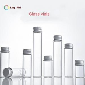 China Glass Dram Vials 5ml 6ml 8ml 10ml 12ml 15ml Clear glass vials with aluminum cap for subpackage on sale