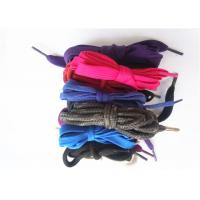 China Nylon Waxed Flat Shoe Laces with Plastic Tips , High Tenacity on sale