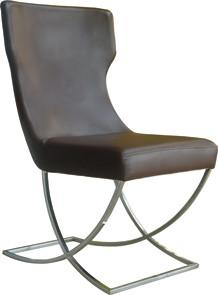 Quality Modern Pu / Leather Dining Room Chair With Chromed Frame for sale