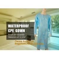 Disposable CPE plastic gown/Plastic coat Elastic cuff/Thumb Cuff,disposable hospital CPE isolation gown /protection gown