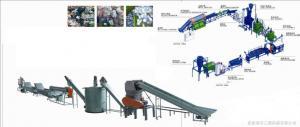 China Botella del ANIMAL DOMÉSTICO que recicla la máquina de la granulación del plástico, plástico que machaca la línea que se lava on sale