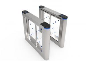 China Remote Control Speed Gate Turnstile , Automatic Swing Turnstile Gate With Card Reader on sale