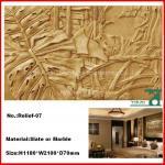 Relevo de pedra cinzelado/relevo do mármore/parede Relievo, relevo da ardósia (YKRF-07)