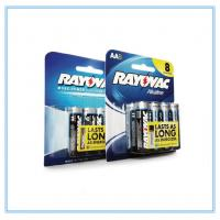 PVC Battey Blister Card Packaging Paper Card With 6 In A Row