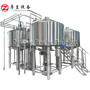 China Mash Tun Brew Kettle Large Beer Brewing Equipment , Durable Draft Beer Equipment on sale