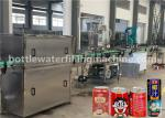 Juice / Milk Beverage Filling Machine , Aluminum Can Filling Sealing Machine