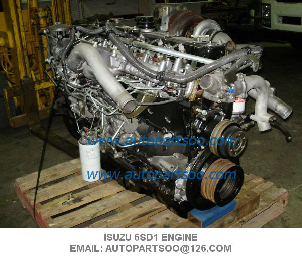 Isuzu 6SD1 Engine Assy Used Japanese Engine 6WG1 6HK1 6HK1T