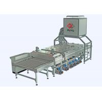 China PLC control 1600 mm Glass Washing Machine Before Silk Screen Printing Processing on sale
