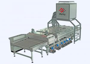 China PLC control 1600 mm Glass Washing Machine Before Silk Screen Printing Processing on sale