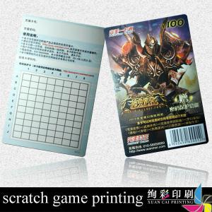 China CMYK 300gsm Paper Scratch Card Silk Screen Printing For IT , Catering on sale