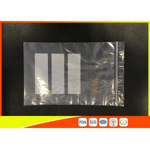 Quality Ldpe Plastic Resealable Industrial Ziplock Bags With Pouch Used For Chemical Industry for sale
